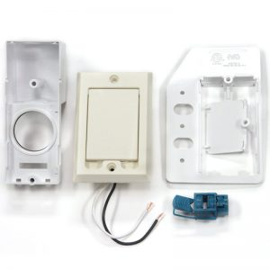 SuperValve Square Door Dual Voltage Inlet Almond