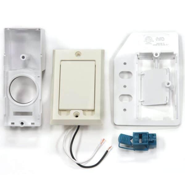SuperValve Square Door Dual Voltage Inlet Almond